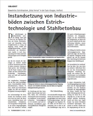 Instandsetzung von Industrieböden