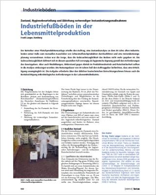 Industriefussböden in der Lebensmittelproduktion