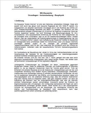 WU-Bauwerke - Grundlagen - Instandsetzung - Bauphysik