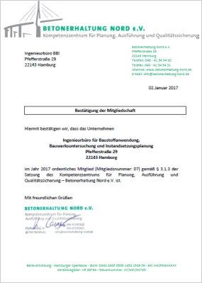 IBBI - Mitgliedschaft Betonerhaltung Nord e.V.
